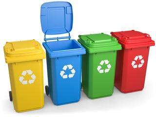 export poubelle tri sélectif